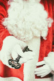 Santa Holding Key Stock Photo