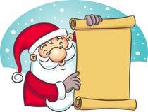 Santa Holding List vector illustration