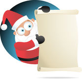 Santa holding Paper Stock Photography