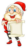 Santa holding a paper scroll Stock Image