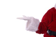 Santa holding present Royalty Free Stock Images