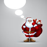 Santa holding sack christmas Stock Photo