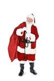 Santa: Holding Sack Full Of Gifts Royalty Free Stock Photos