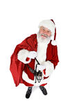 Santa: Holding Sack Full Of Gifts Stock Images