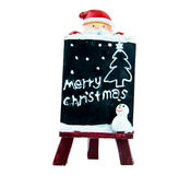 Santa holding a sign Christmas Stock Images