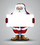 Santa holding sign design Royalty Free Stock Images