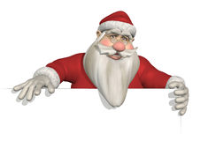 Santa Holding Sign Edge Stock Photography