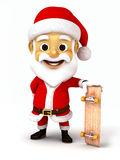 Santa holding a skate board Stock Photos