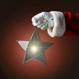 Santa Holding Star Lantern Royalty Free Stock Images