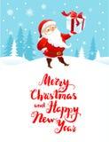 Santa holiday cartoons vector illustration