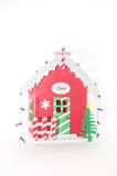 Santa Home. Santa Claus bright red home isolated on white background Royalty Free Stock Images