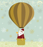 Santa hot air balloon Royalty Free Stock Images
