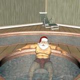 Santa Hot Tub 1 Royalty Free Stock Image