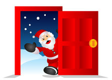 Santa in the house Royalty Free Stock Images