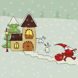 Santa house Stock Photography
