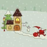 Santa house Stock Photography