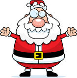 Santa Hug. A happy cartoon Santa Claus ready to give a hug royalty free illustration