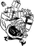Santa With Huge Bag Of-Geschenke lizenzfreie abbildung