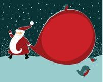 Santa with huge sack. Santa Claus with huge sack Stock Images