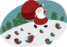 Santa with huge sack Royalty Free Stock Photo