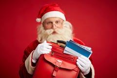 Santa iść podróżować obrazy royalty free