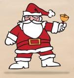Santa i dzwon Obrazy Royalty Free