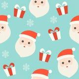 Santa i prezenta pudełko, boże narodzenie bezszwowy deseniowy temat, dla używamy jak royalty ilustracja