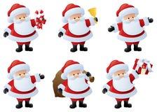 Santa i uppgift vektor illustrationer