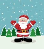 Santa on ice. Vector xmas illustration of santa on ice vector illustration