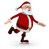 Santa ice skating Royalty Free Stock Photos
