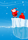 Santa on iceberg Stock Photography
