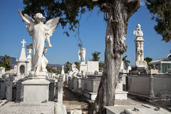 Santa Ifigenia cemetery statues Stock Photo
