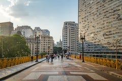 Santa Ifigenia Viaduct - Sao Paulo, Brasile immagine stock
