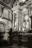 In the Santa Iglesia Catedral Basilica de la Encarnacion Malaga Royalty Free Stock Photos