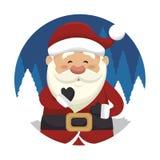 santa ikony Claus odizolowywający projekt Zdjęcia Royalty Free