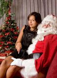 Santa impertinente immagini stock libere da diritti