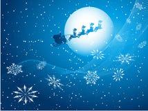 Santa In The Sky Royalty Free Stock Photography