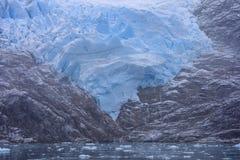 Santa Ines glaciär i kanalen av Magellan Royaltyfria Foton