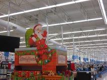 Santa inside mall. Photo taken inside Wallmart store stock photography