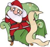 Santa irritada Fotografia de Stock Royalty Free