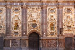 Santa isabel church Zaragoza Spain outdoor facade Stock Photography