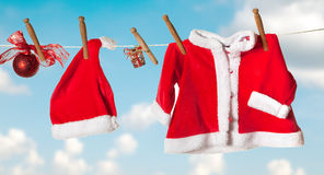 Santa jacket and hat Stock Images