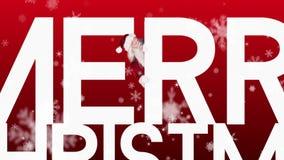 Santa jetant un coup d'oeil autour du Joyeux Noël sur le fond de fête banque de vidéos