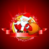 Santa with Jingle Bell Stock Photos