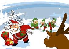 Santa joke Royalty Free Stock Image