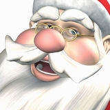 Santa - Jolly Ole Elf. Closeup of the Jolly ole Elf giving a hearty laugh vector illustration