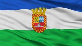 Santa Juana City Flag, Χιλή, άποψη κινηματογραφήσεων σε πρώτο πλάνο Διανυσματική απεικόνιση