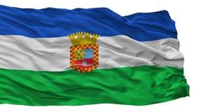 Santa Juana City Flag, Χιλή, που απομονώνεται στο άσπρο υπόβαθρο Διανυσματική απεικόνιση