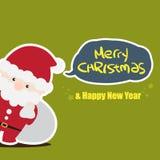 Santa julkort Fotografering för Bildbyråer