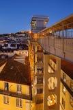 Santa Justa-Aufzug in Lissabon Lizenzfreie Stockbilder
